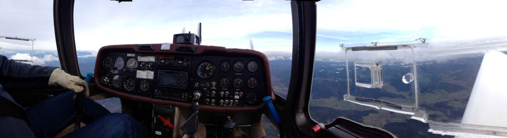 Sicht des Piloten beim Flug in der G109