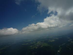 Flug über dem Hotzenwald