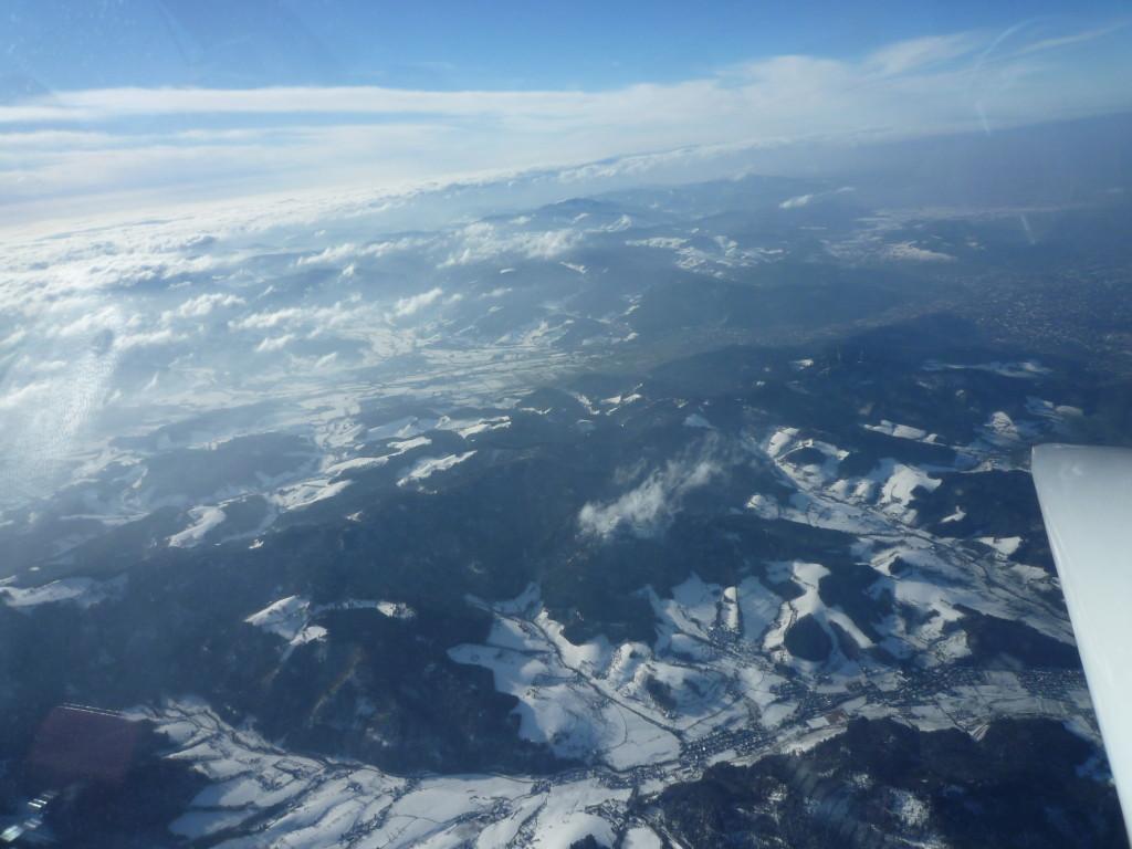 Freiburg, Dreisamtal und Glottertal aus großer Höher