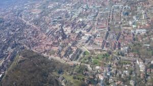Die Freiburger Innenstadt von oben