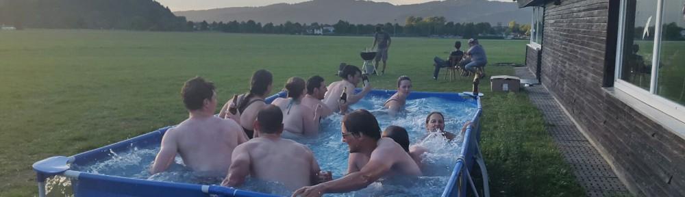 Strudelbildung im Pool