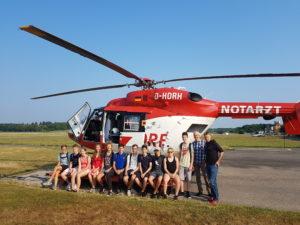 Gruppenbild bei der DRF - Luftrettung