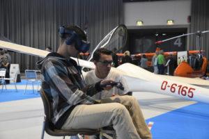 VR Flugsimulator auf der Messe Freiburg
